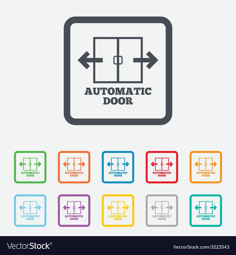 Automatic door sign icon auto open symbol vector | Price: 1 Credit (USD $1)