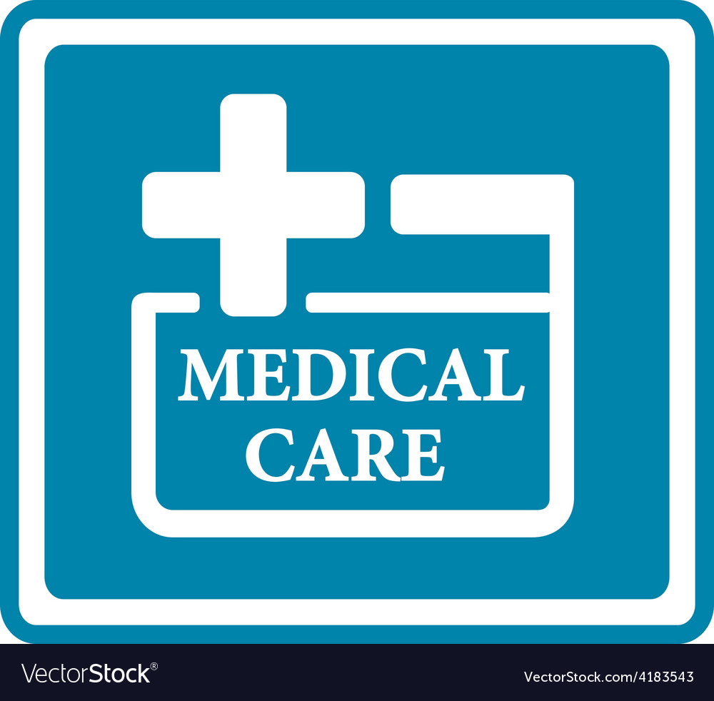 Blue medical icon for medicine industry vector | Price: 1 Credit (USD $1)