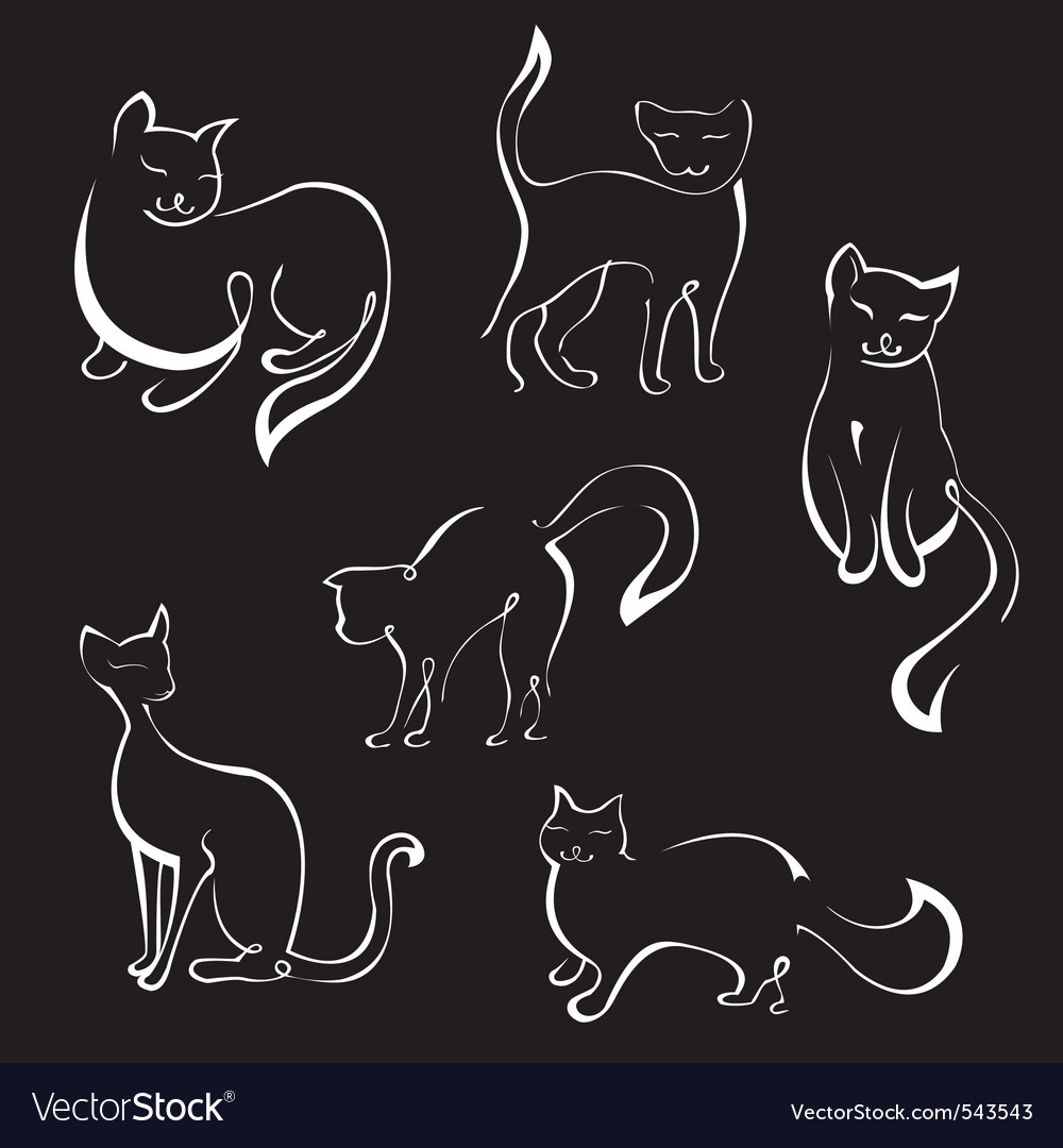 Cat sketches vector | Price: 1 Credit (USD $1)
