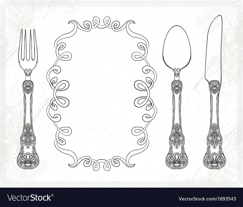 Cutlery spoon fork knife vector | Price: 1 Credit (USD $1)