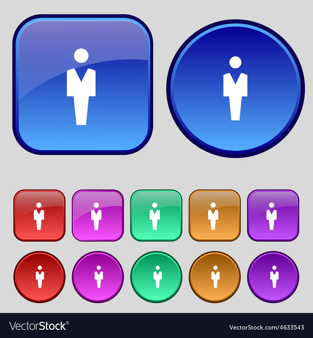 Human man person male toilet icon sign a set of vector | Price: 1 Credit (USD $1)