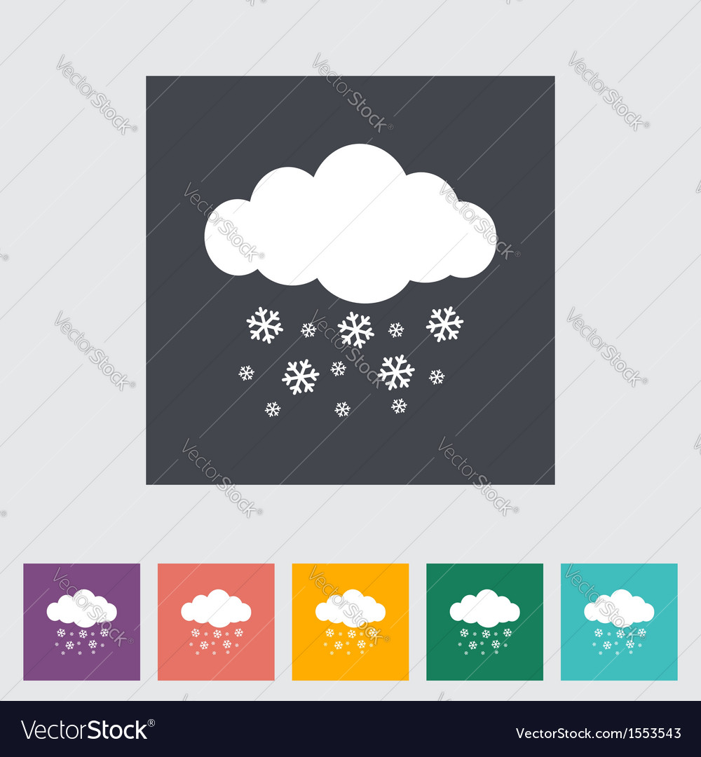 Icon snowfall vector | Price: 1 Credit (USD $1)