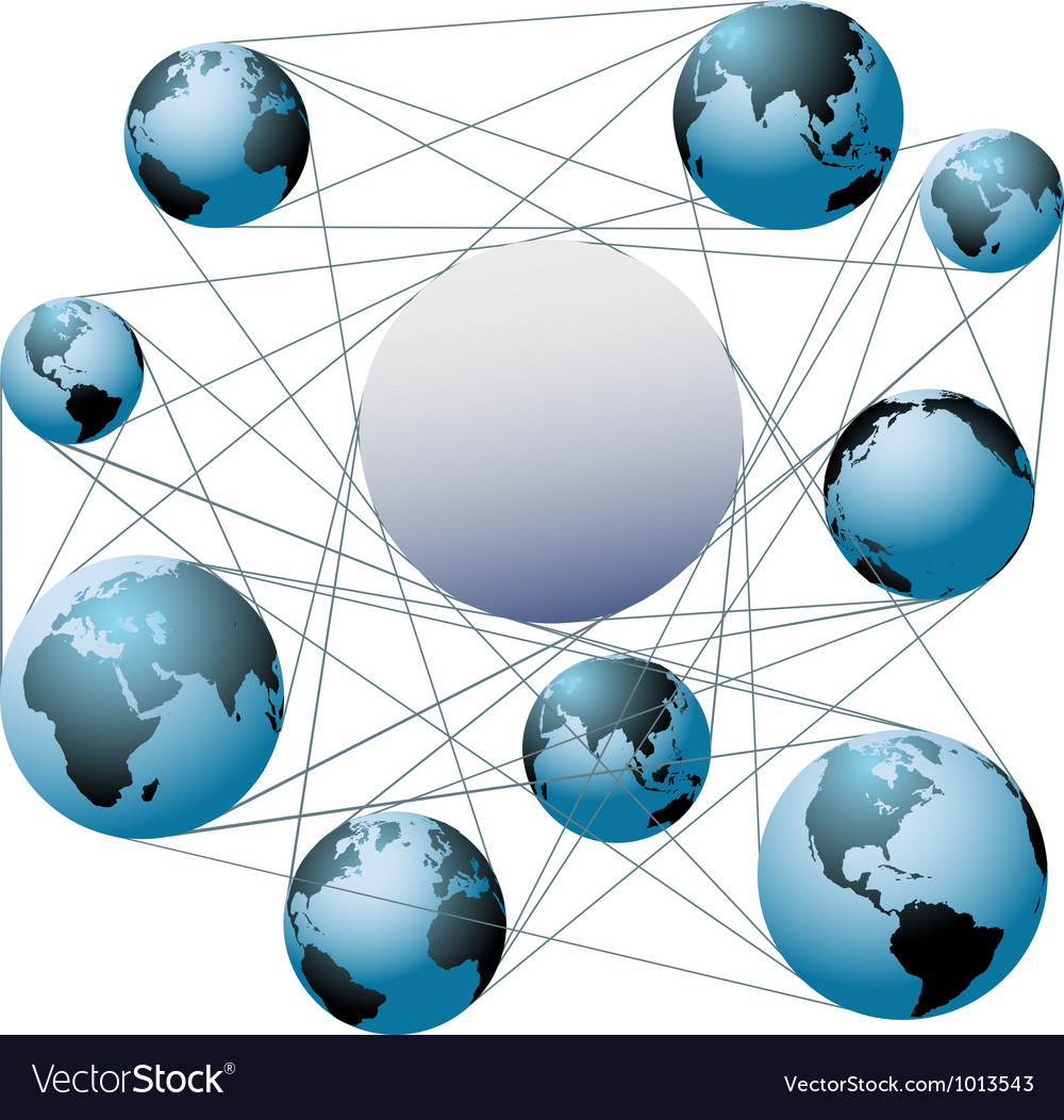 Join earth worlds in your global network vector | Price: 1 Credit (USD $1)