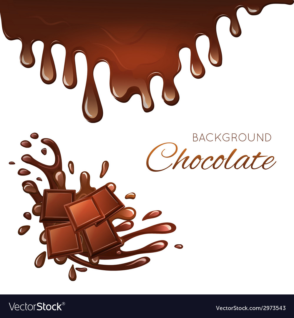 Milk chocolate bar and splashes vector | Price: 1 Credit (USD $1)