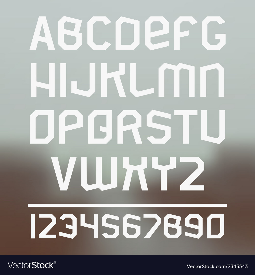 Sans serif font vector | Price: 1 Credit (USD $1)