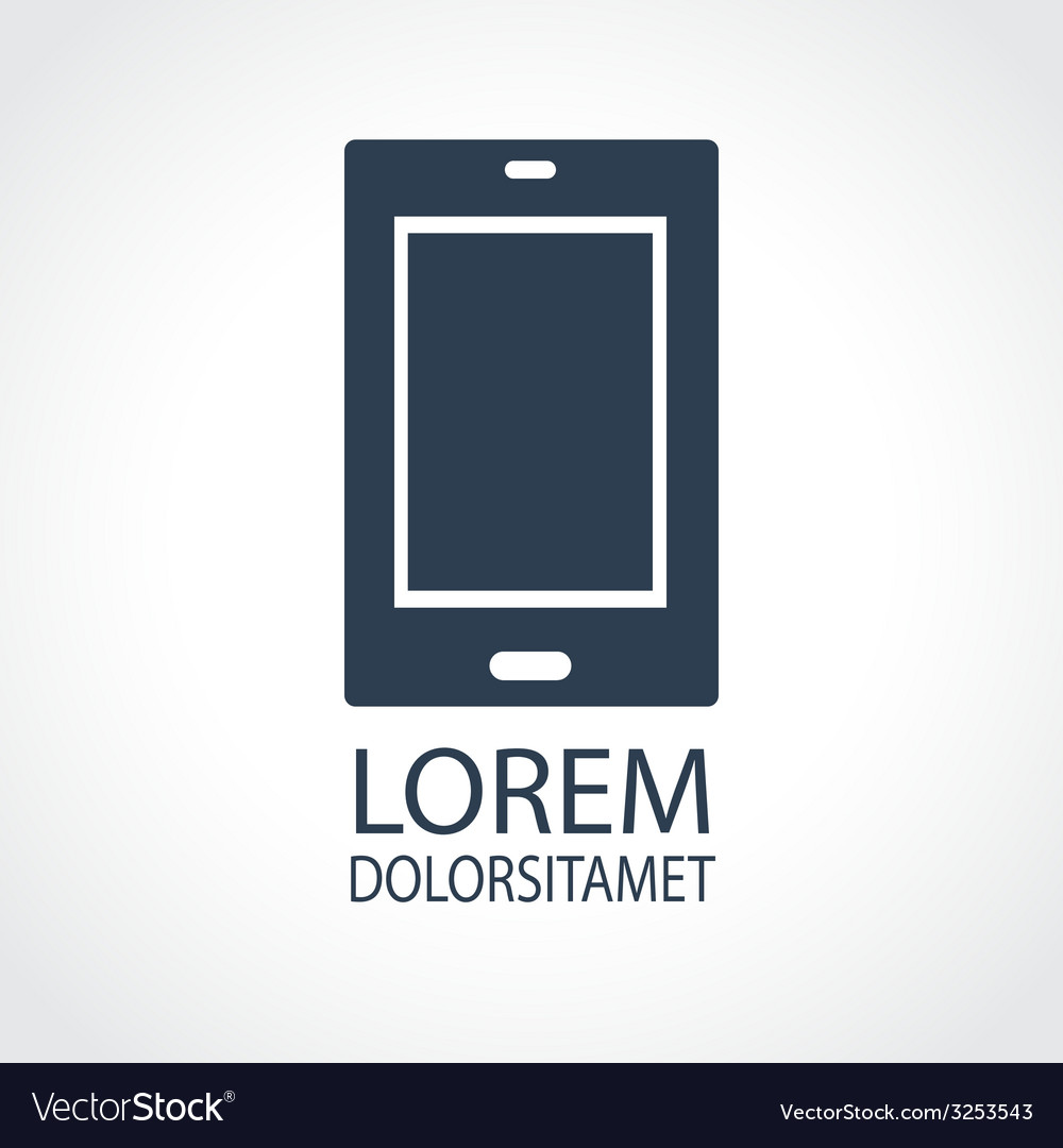 Tablet dark flat icon vector | Price: 1 Credit (USD $1)