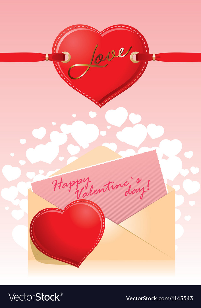 Valentine hart love vector | Price: 1 Credit (USD $1)