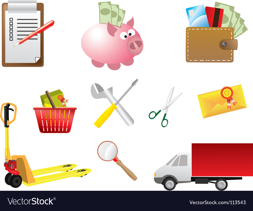 Web shop elements vector | Price: 1 Credit (USD $1)