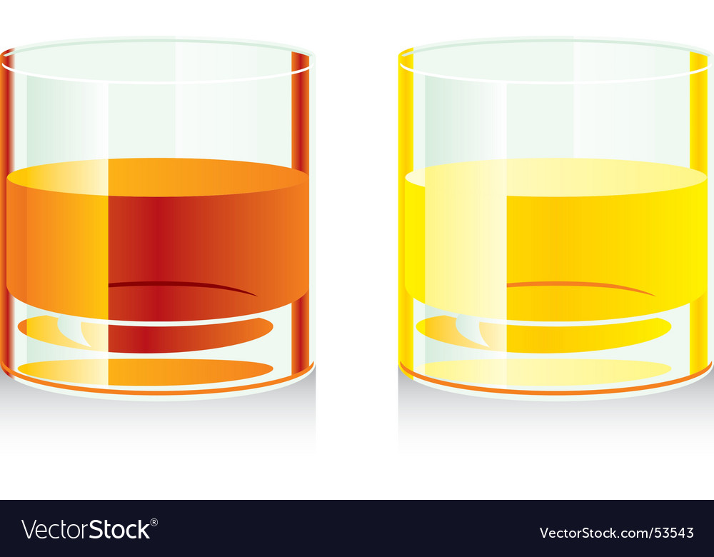 Whiskey glasses vector | Price: 1 Credit (USD $1)