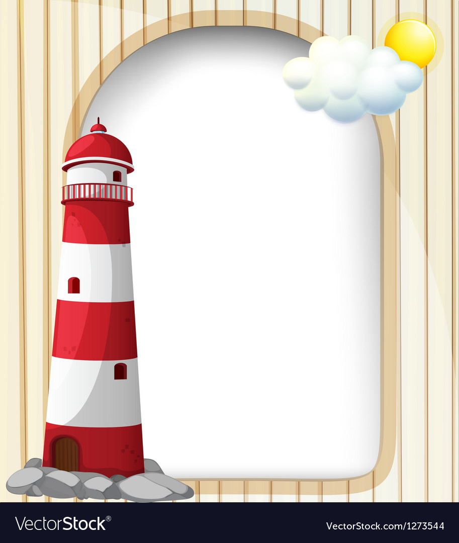A lighthouse and the empty template vector