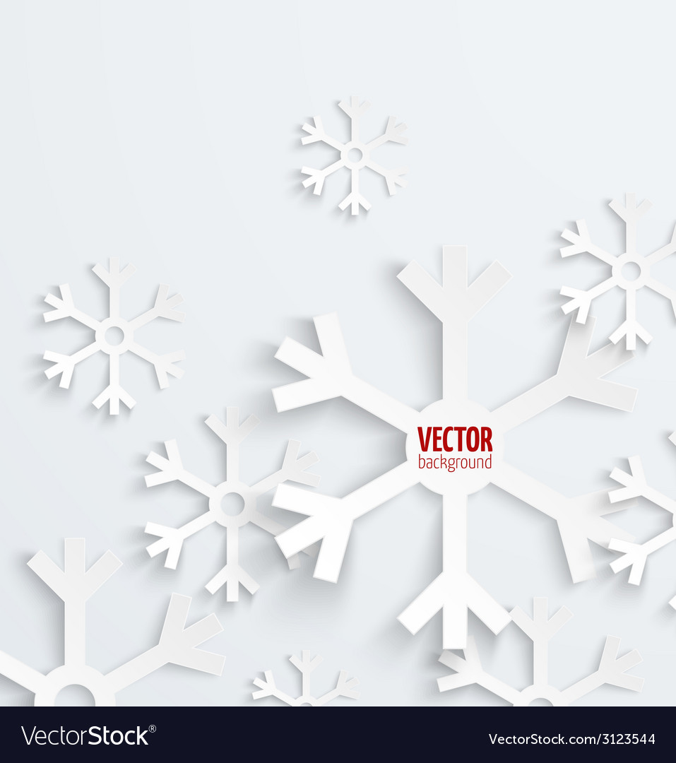 Abstract christmas snowflake paper 3d backbround vector | Price: 1 Credit (USD $1)