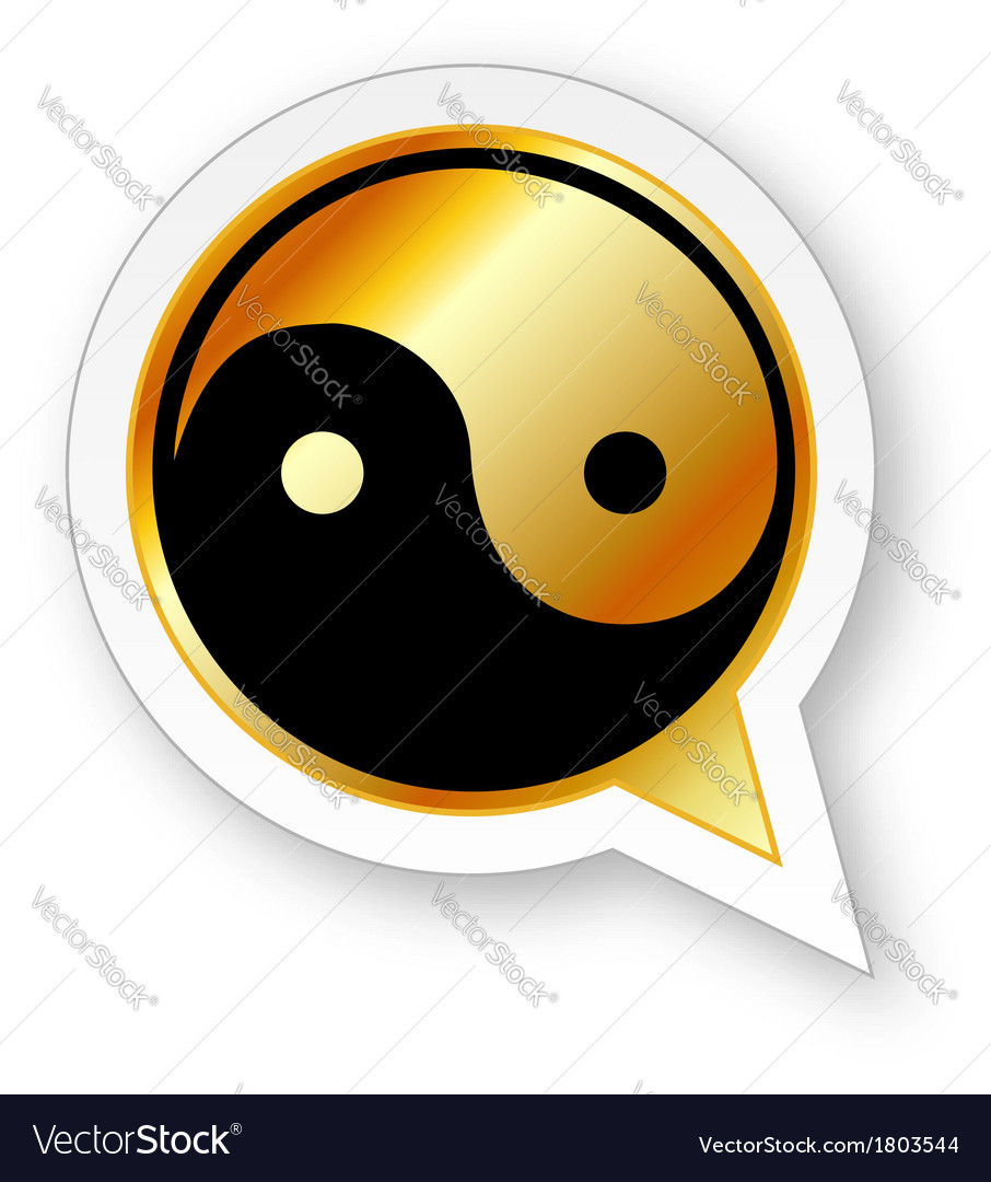 Alphabet q with ying and yang symbol vector | Price: 1 Credit (USD $1)
