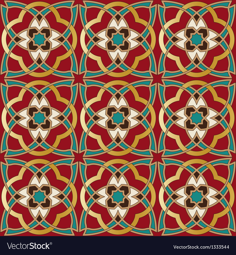 Arabic seamless pattern in editable file vector | Price: 1 Credit (USD $1)