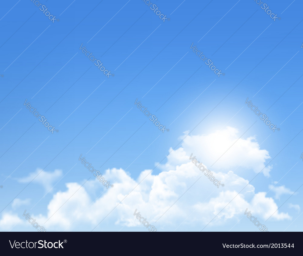 Background with blue sky and clouds backgrounds vector | Price: 1 Credit (USD $1)
