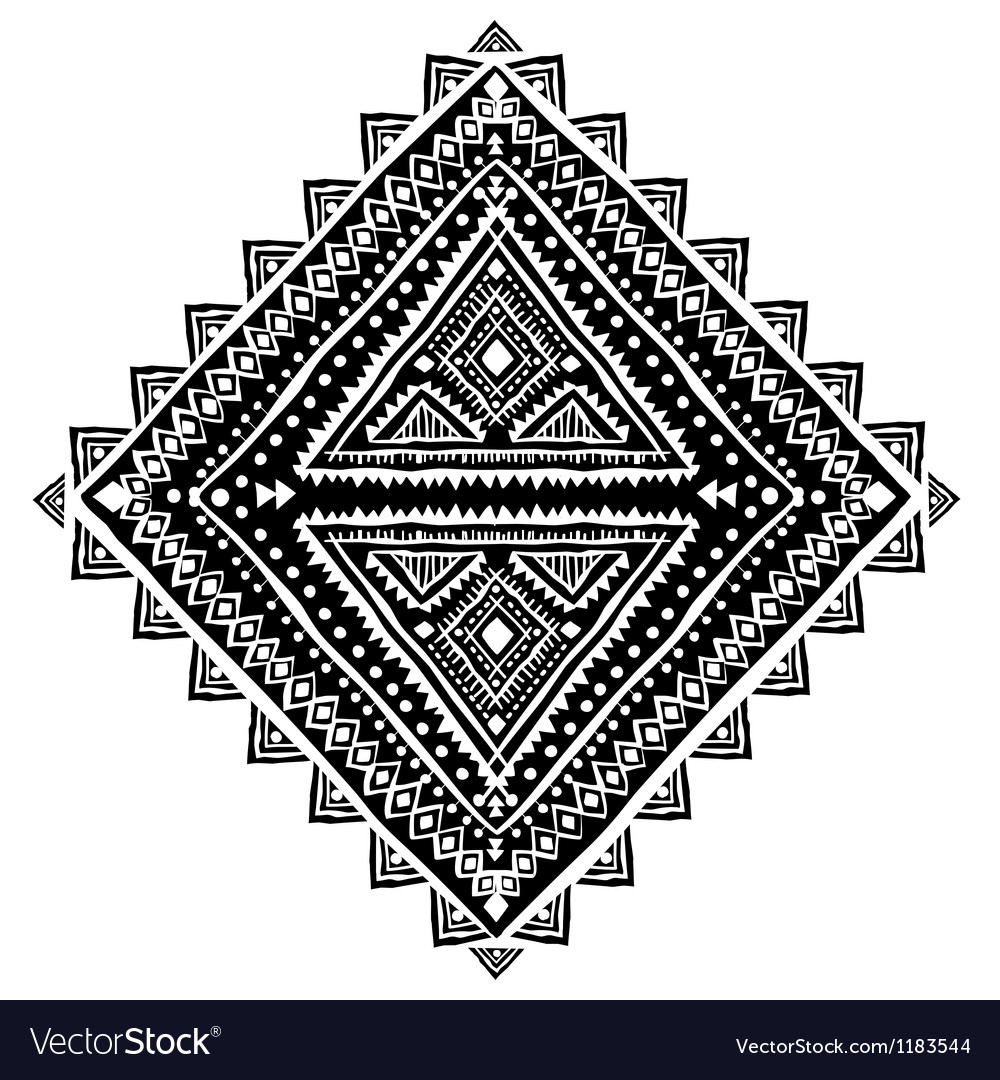Beautiful ethnic ornament vector | Price: 1 Credit (USD $1)