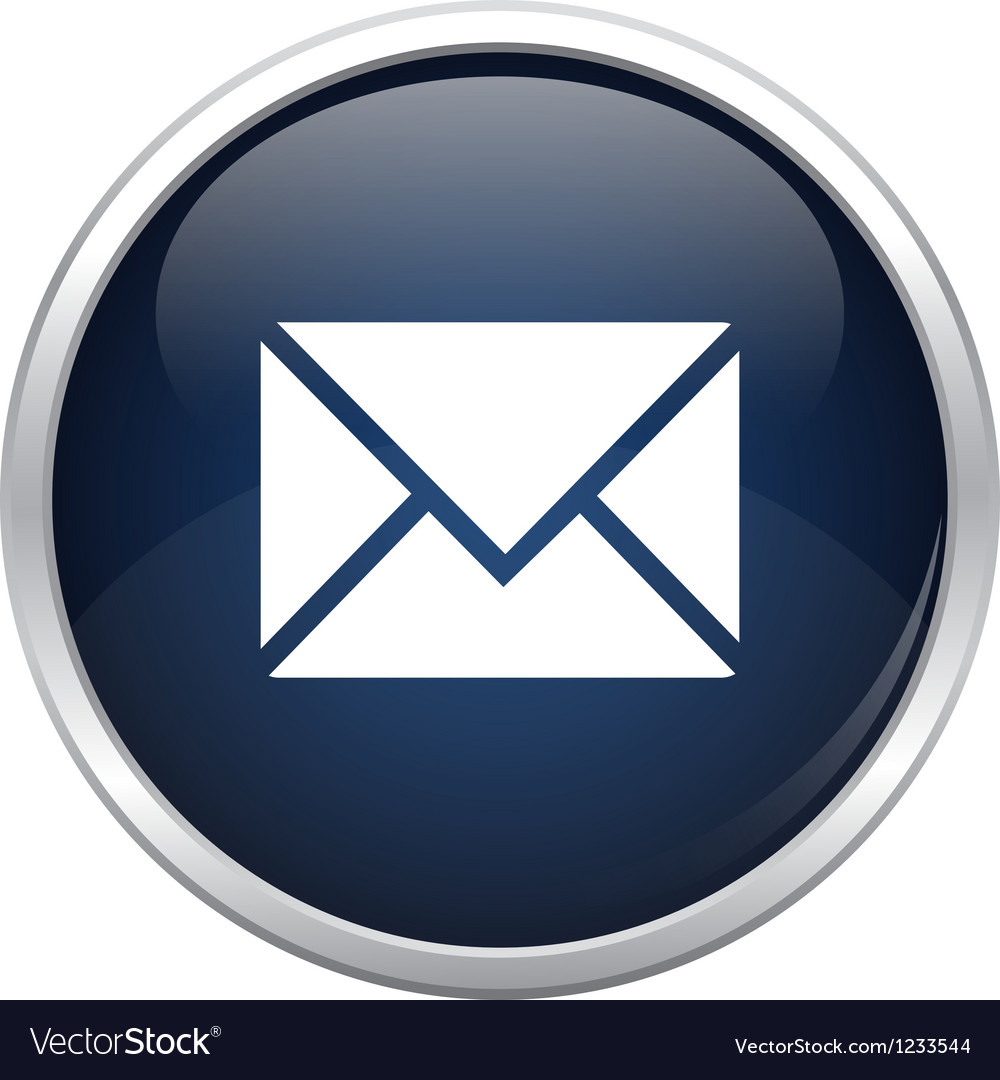 Blue mail icon vector | Price: 1 Credit (USD $1)