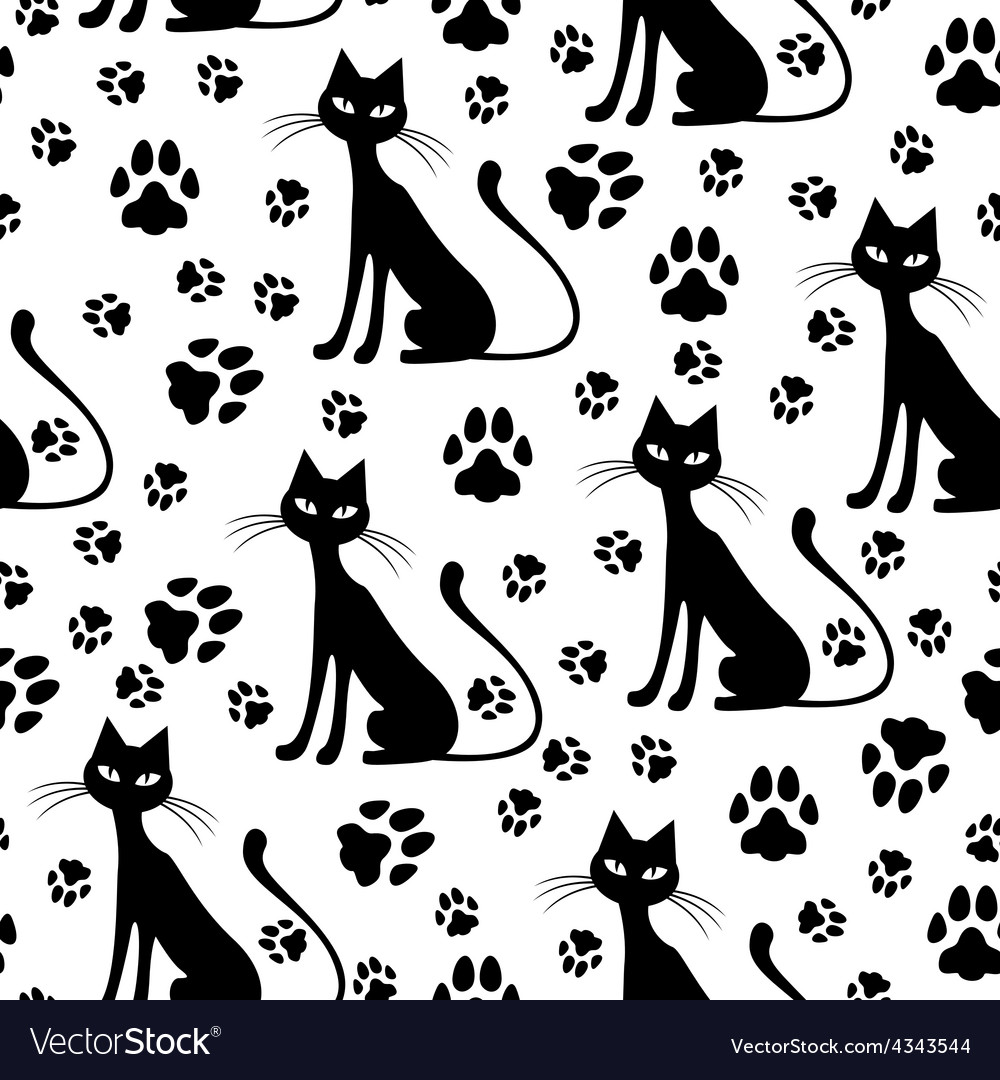 Cat pattern vector | Price: 1 Credit (USD $1)