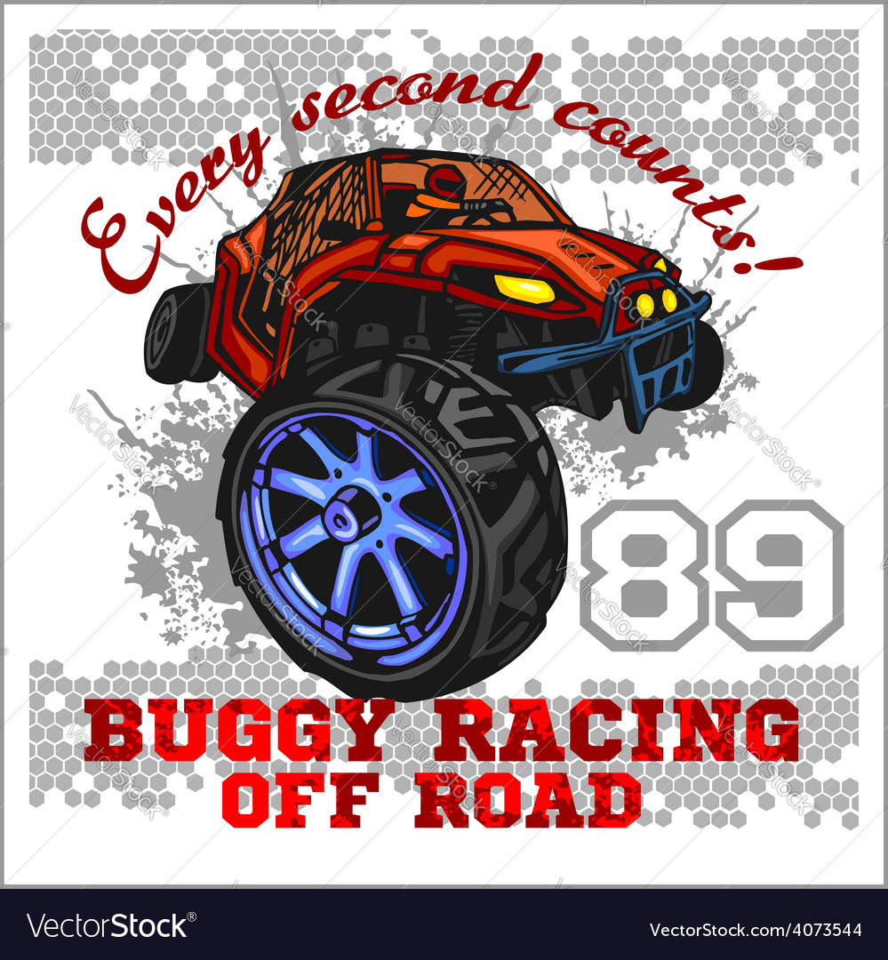 Dune buggy riders - off road badge vector | Price: 3 Credit (USD $3)