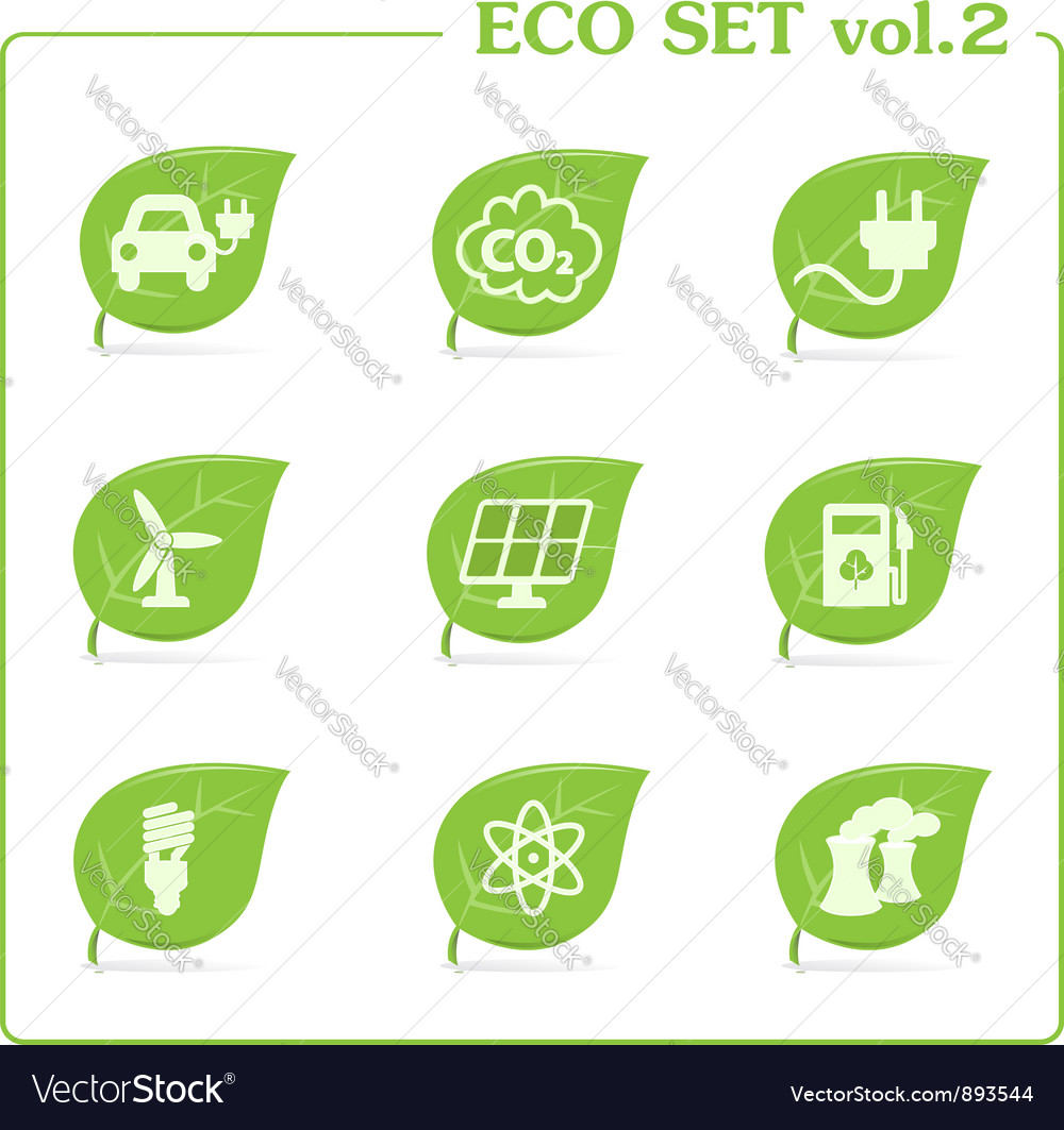 Ecology icon set vol 2 vector | Price: 1 Credit (USD $1)