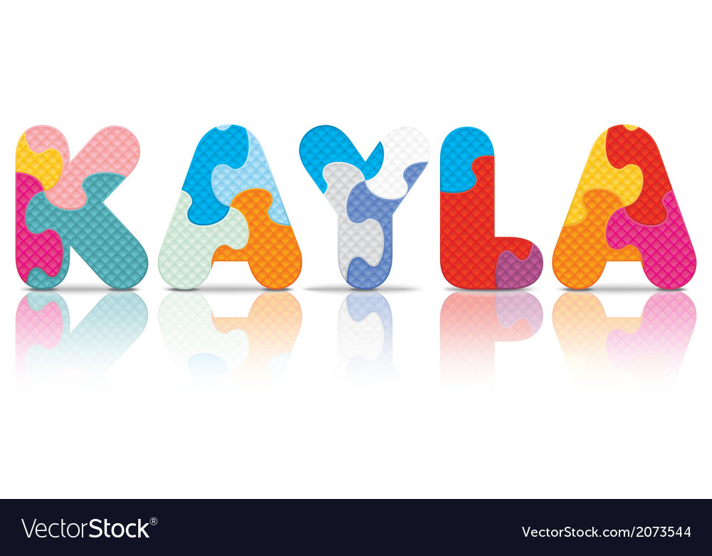 Kayla written with alphabet puzzle vector | Price: 1 Credit (USD $1)