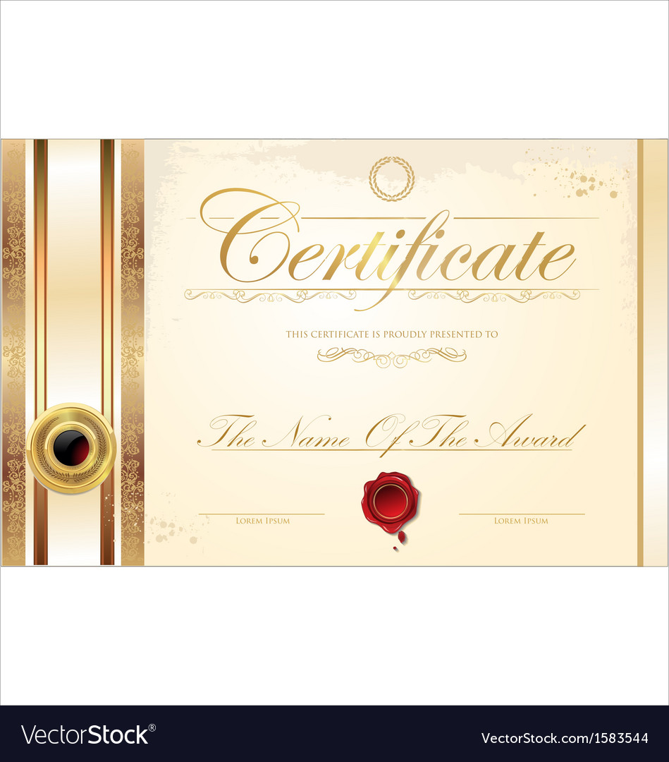 Luxury certificate template vector | Price: 1 Credit (USD $1)