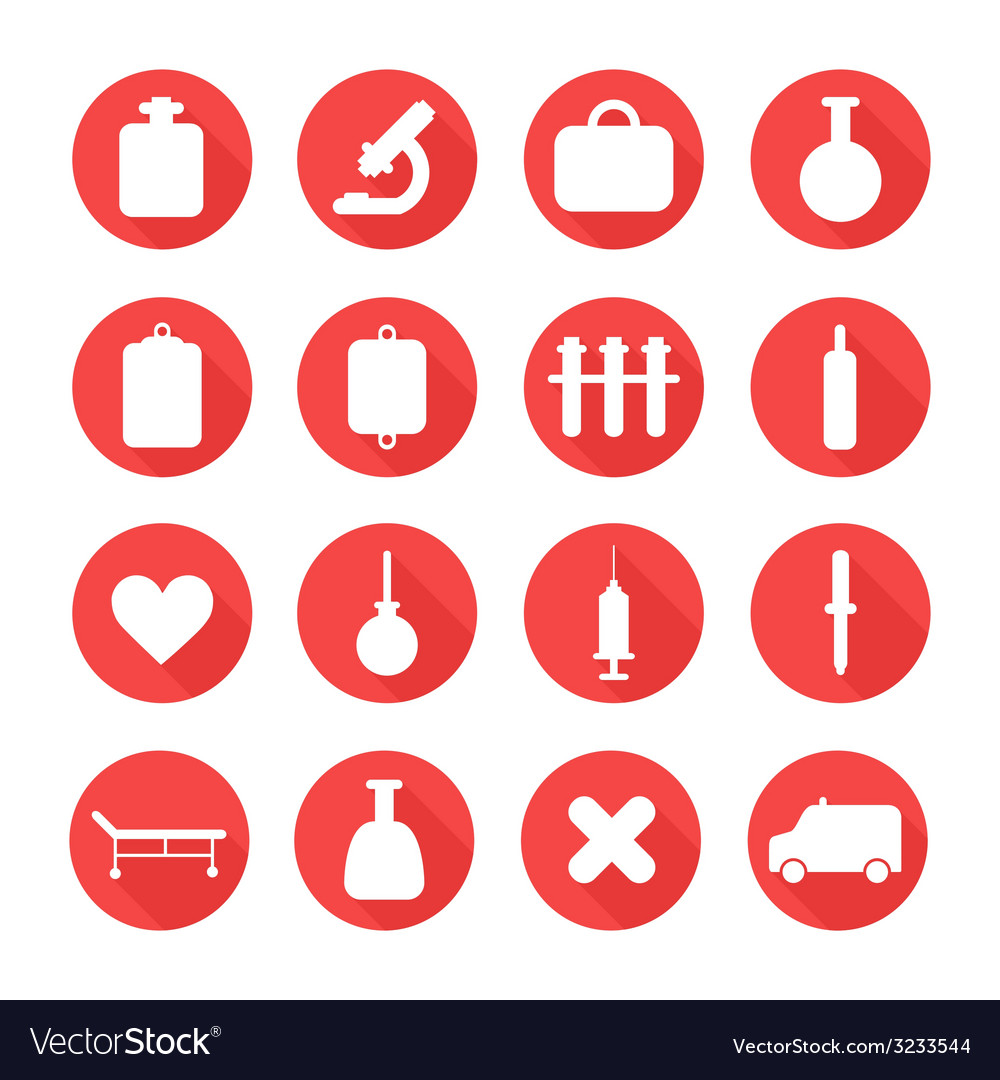 Medical silhouette pictogram and health colorful vector | Price: 1 Credit (USD $1)