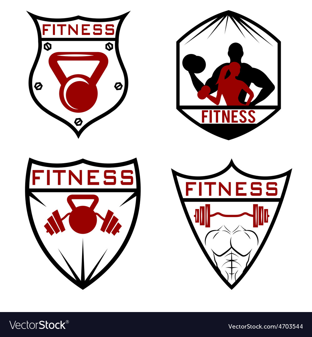 Set of fitness labels vector | Price: 1 Credit (USD $1)
