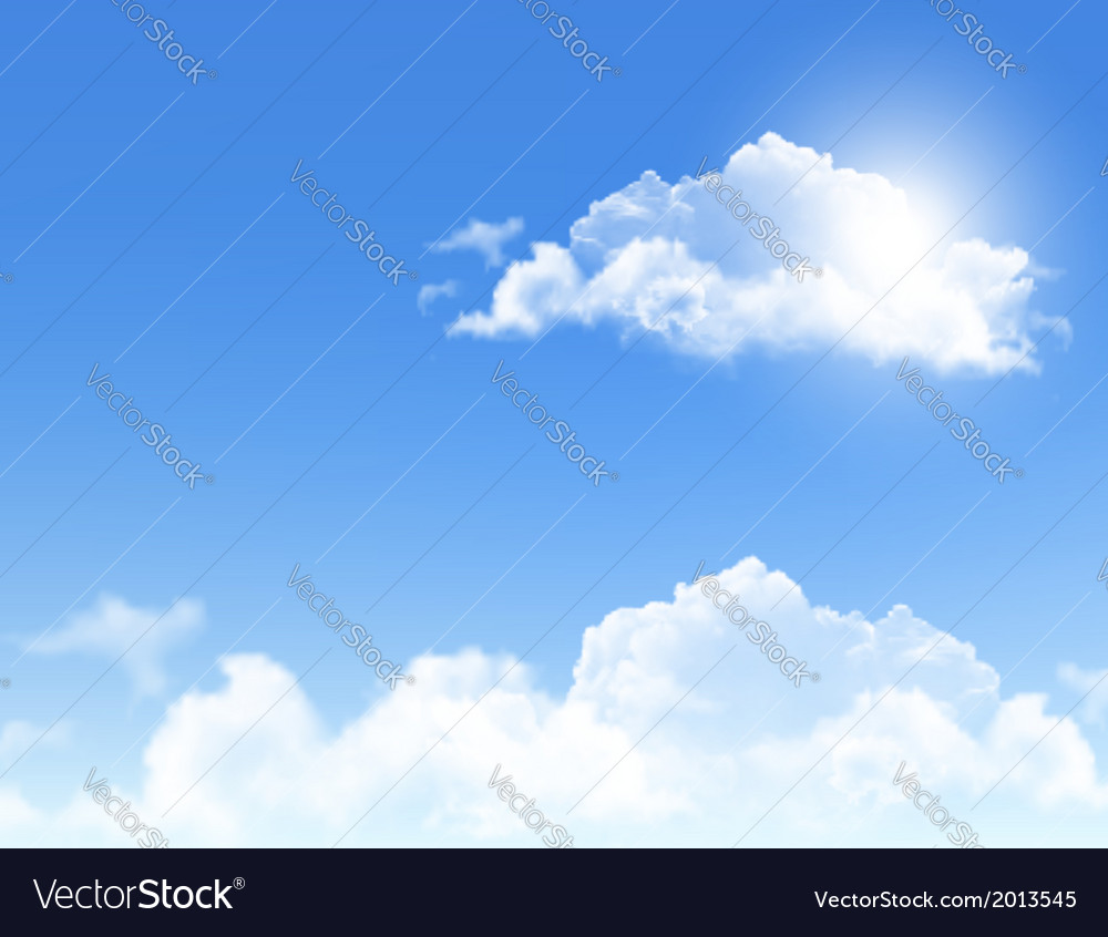 Background with blue sky and clouds backgrounds vector   Price: 1 Credit (USD $1)