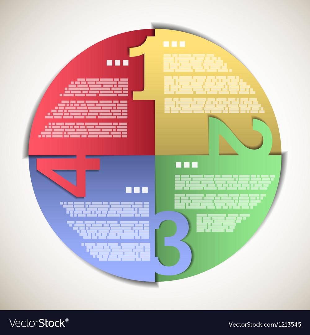 Color paper progress circle vector | Price: 1 Credit (USD $1)