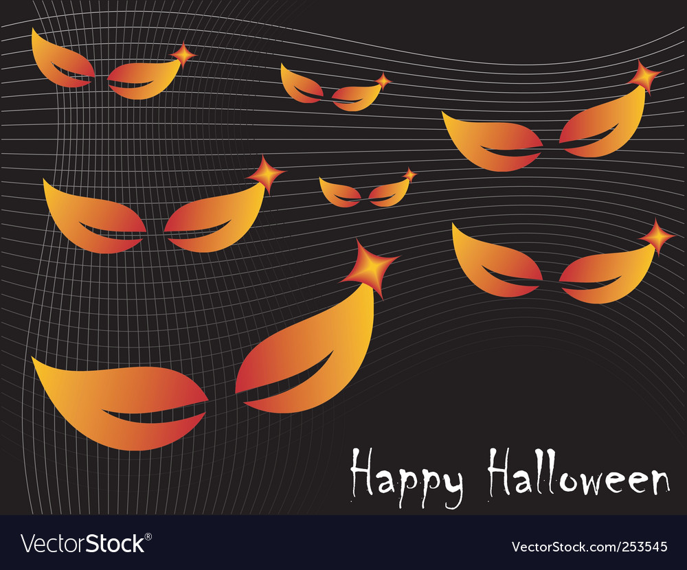 Halloween spooky eyes vector | Price: 1 Credit (USD $1)