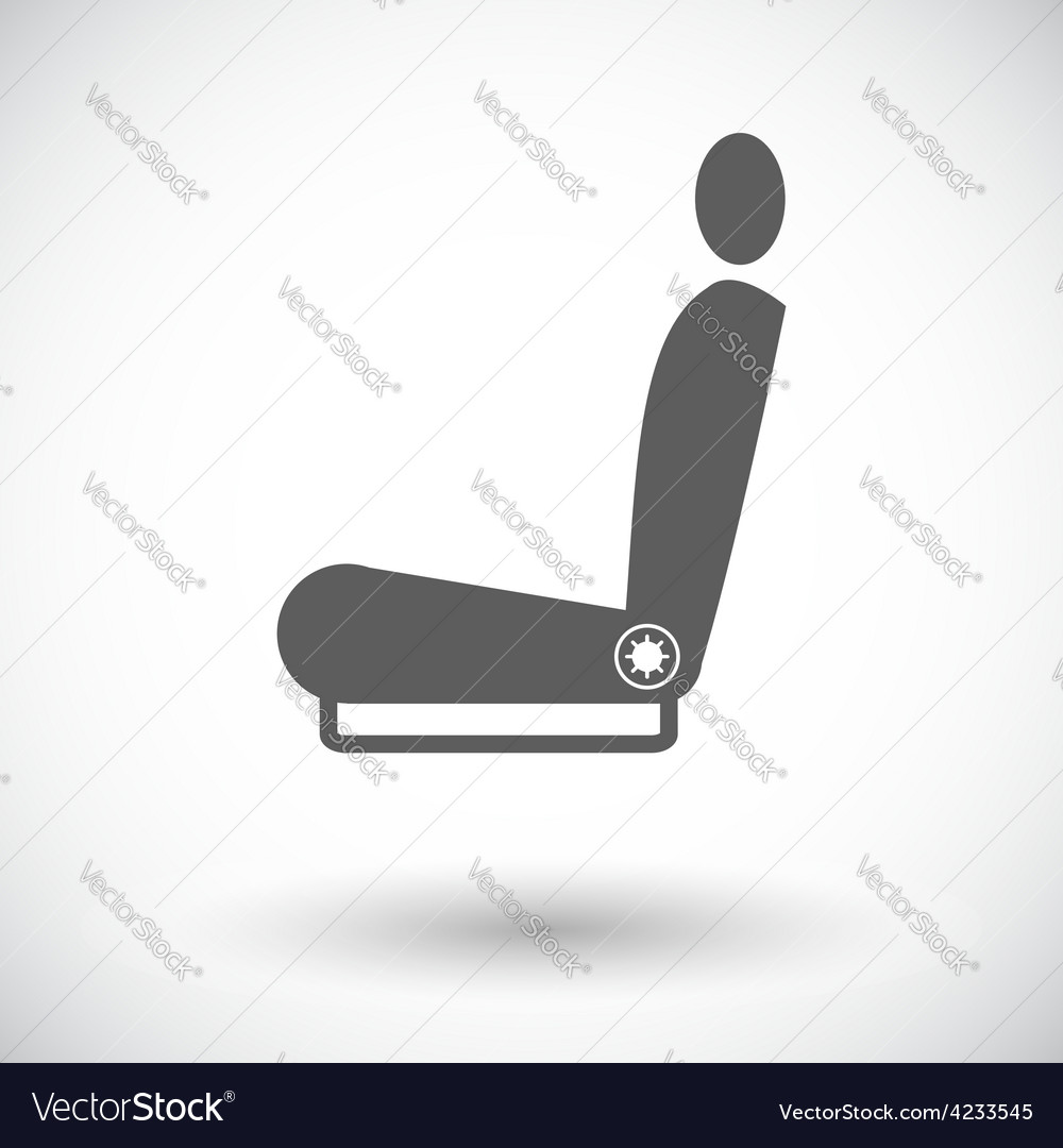 Icon heated seat vector | Price: 1 Credit (USD $1)