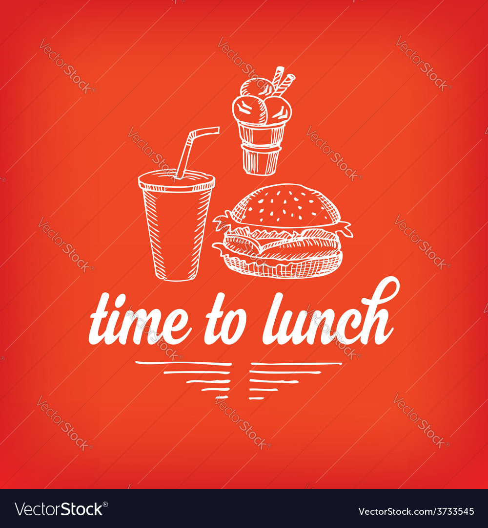 Lunch menu restaurant design vector | Price: 1 Credit (USD $1)