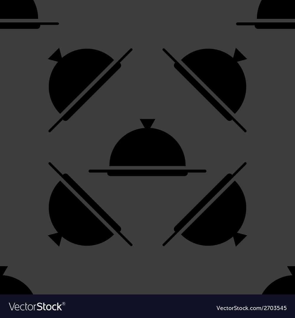 Restaurant cloche web icon flat design seamless vector | Price: 1 Credit (USD $1)