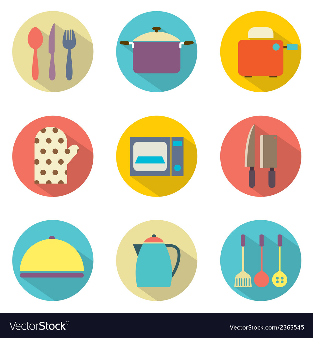 Utensils icons set 9 vector | Price: 1 Credit (USD $1)