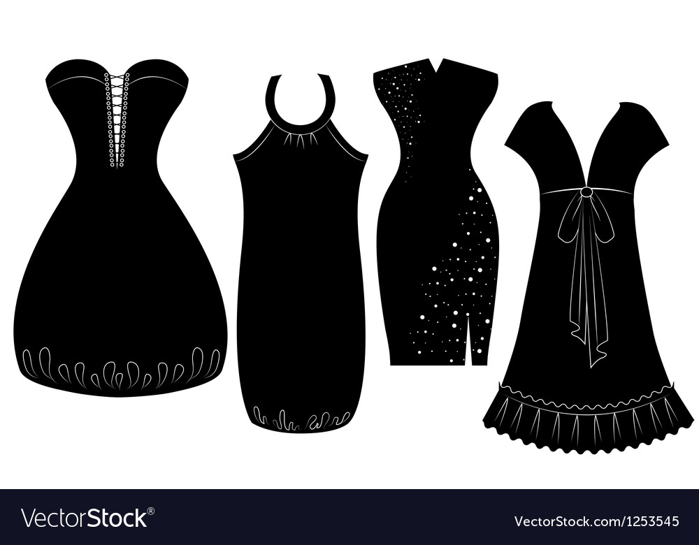 Woman dress silhouette vector   Price: 1 Credit (USD $1)