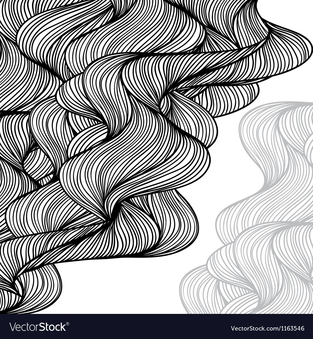Abstract hand-drawn waves background vector | Price: 1 Credit (USD $1)