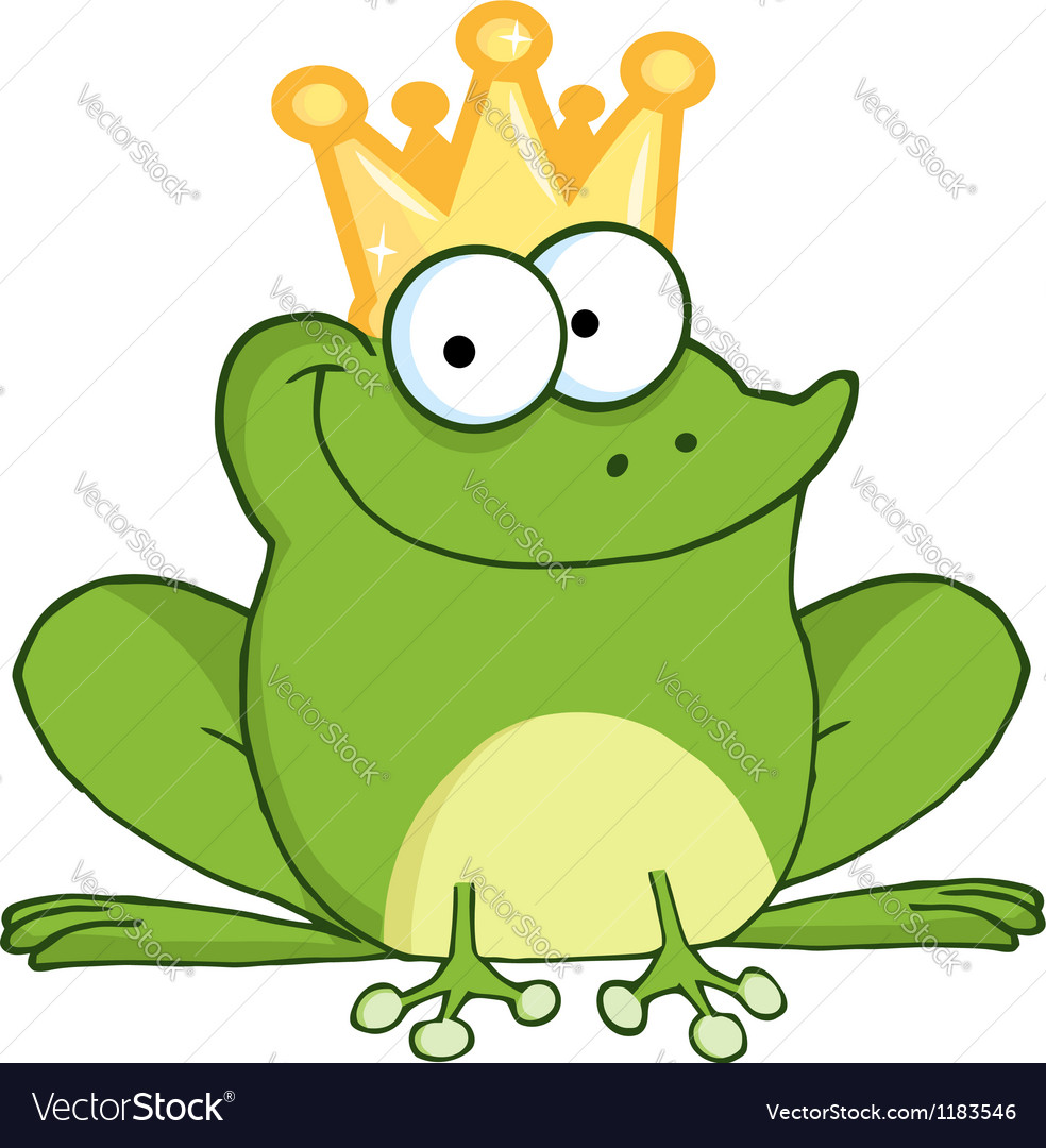 Frog prince cartoon character vector | Price: 3 Credit (USD $3)