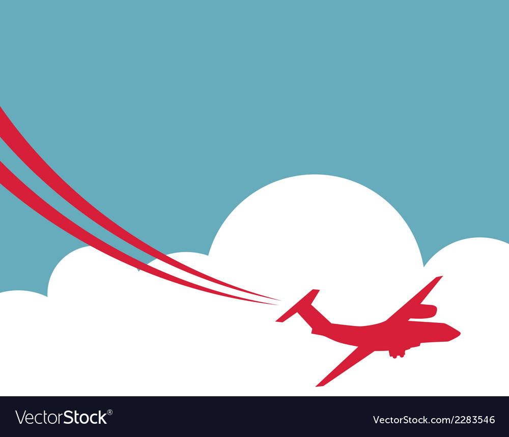 Retro airplane banner vector | Price: 1 Credit (USD $1)