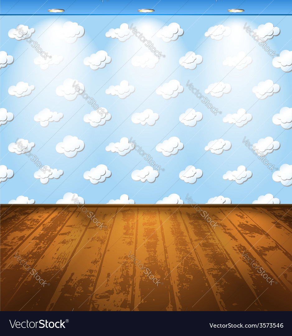 Room with clouds vector   Price: 1 Credit (USD $1)