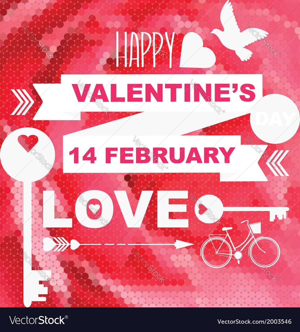 Valentines day postertypography vector | Price: 1 Credit (USD $1)