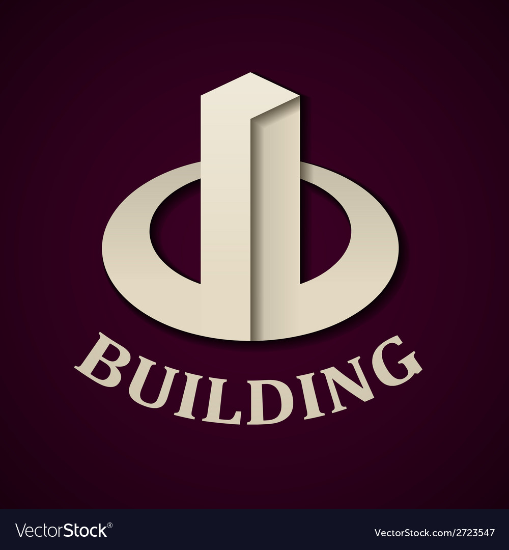Abstract paper building icon vector | Price: 1 Credit (USD $1)