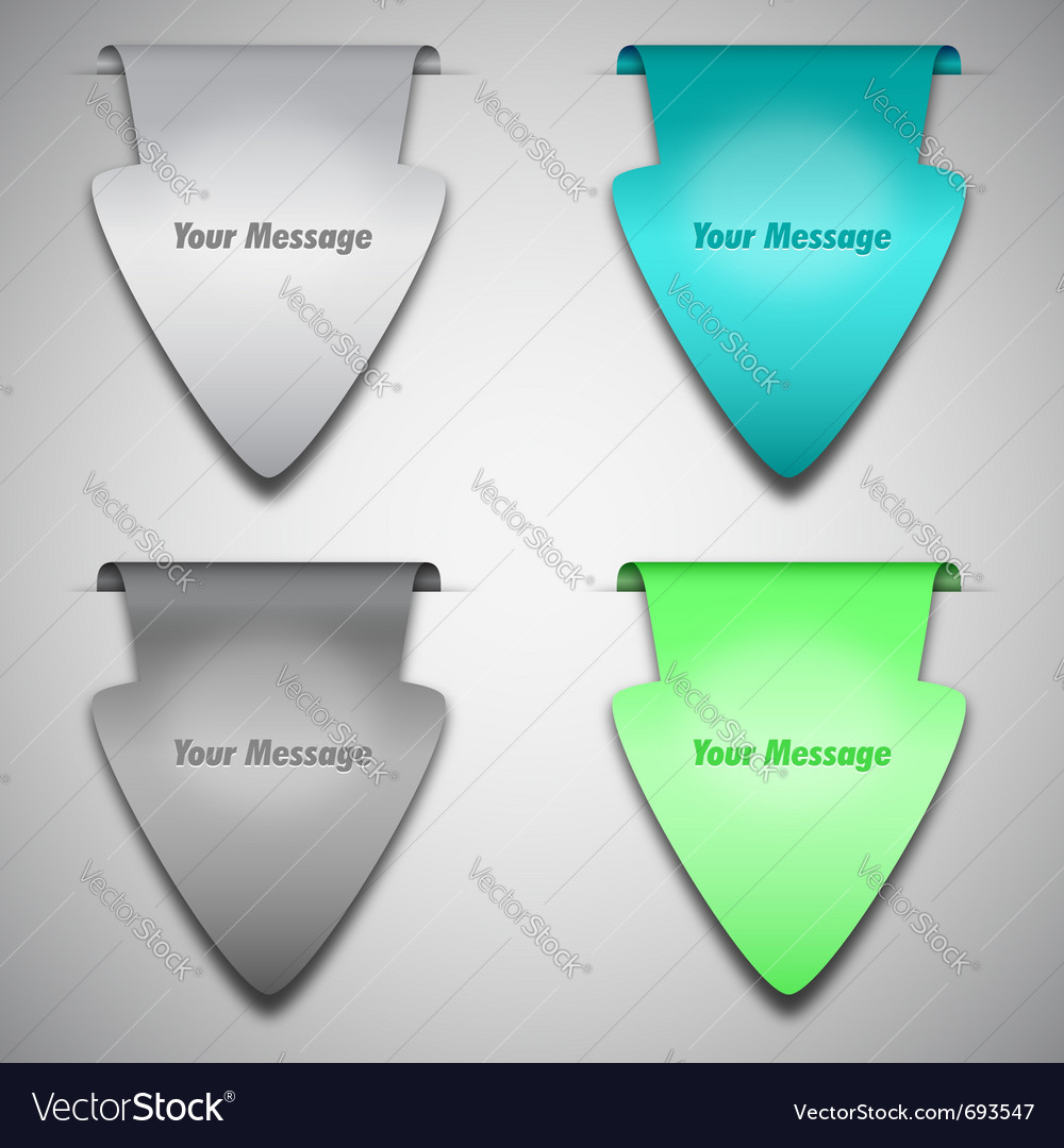 Arrow stickers or labels vector | Price: 1 Credit (USD $1)
