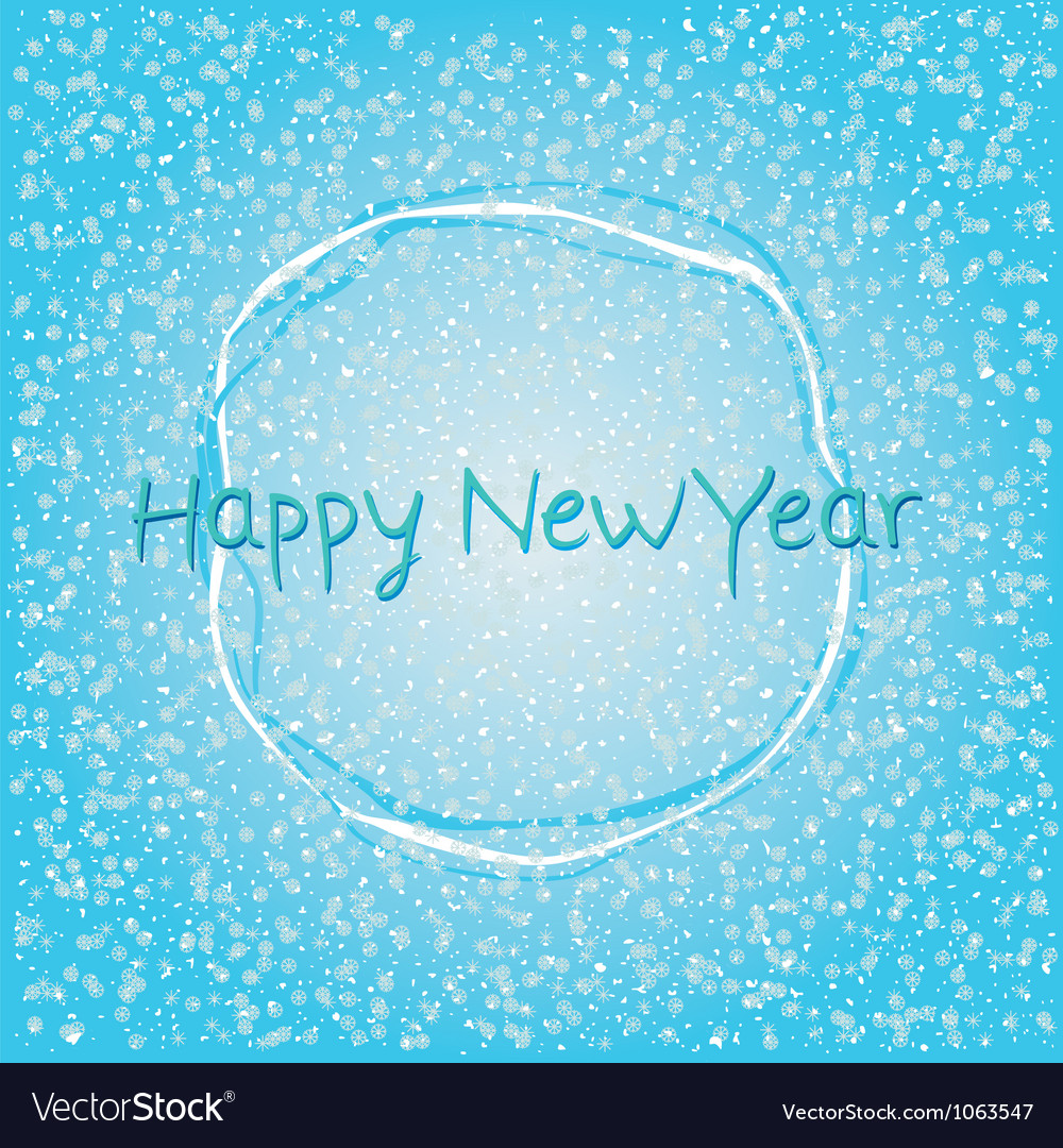Blue happy new year abstract background vector | Price: 1 Credit (USD $1)
