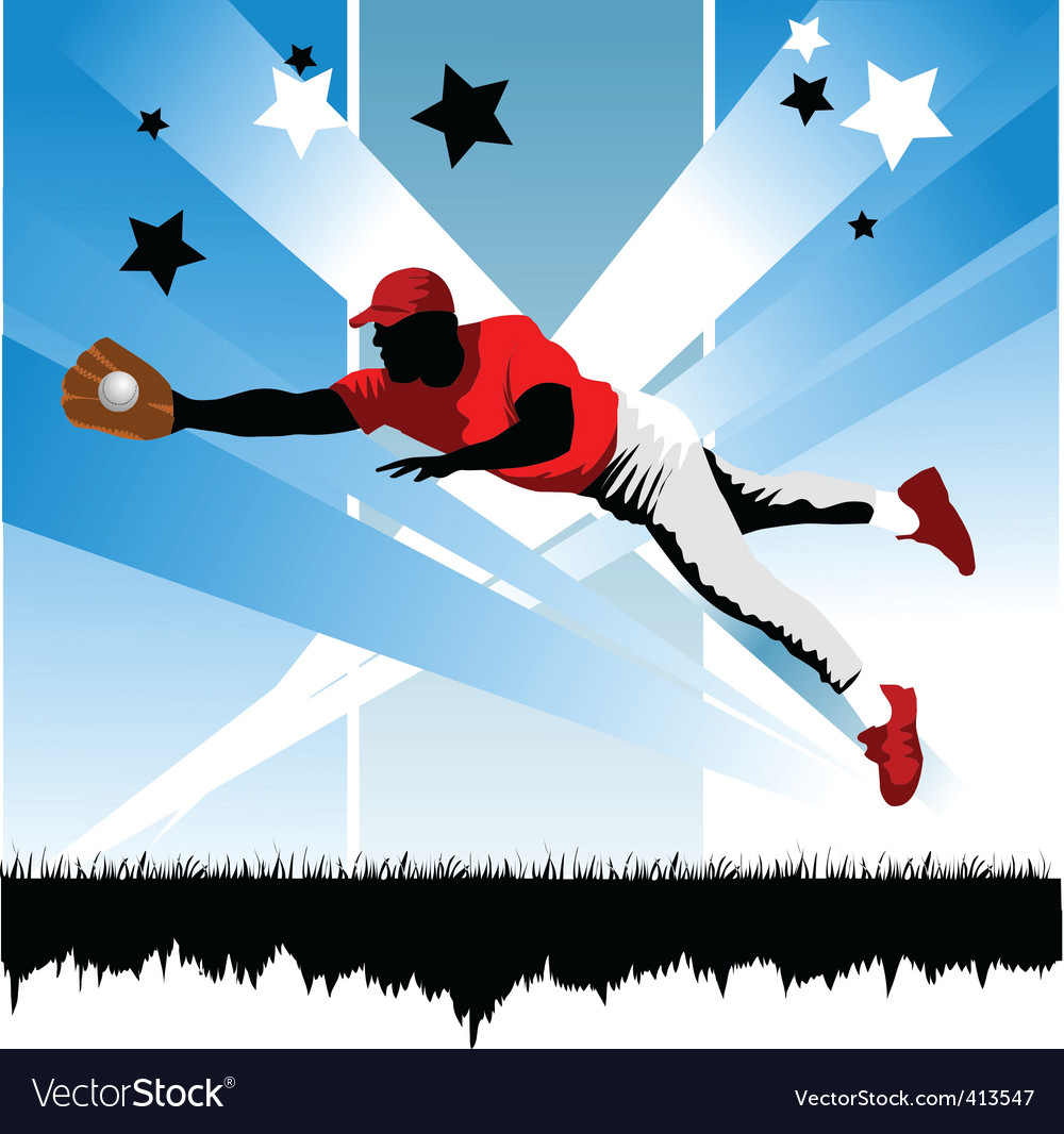 Catch the ball vector | Price: 1 Credit (USD $1)