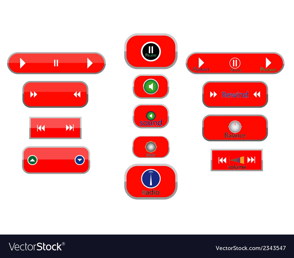 Different buttons vector | Price: 1 Credit (USD $1)