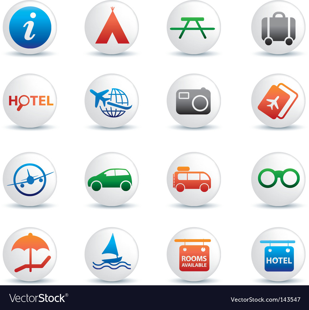 Global travel buttons vector | Price: 1 Credit (USD $1)