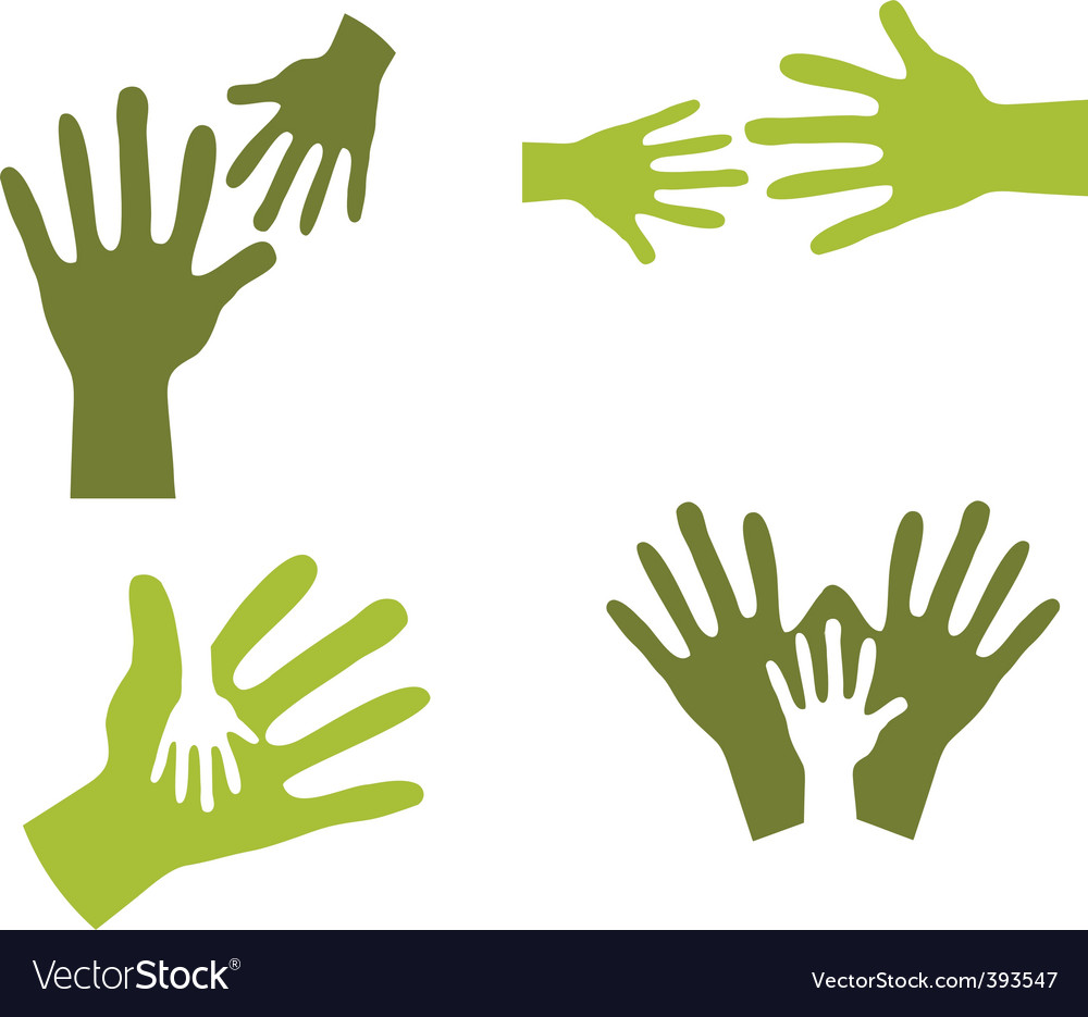 Hands together vector | Price: 1 Credit (USD $1)