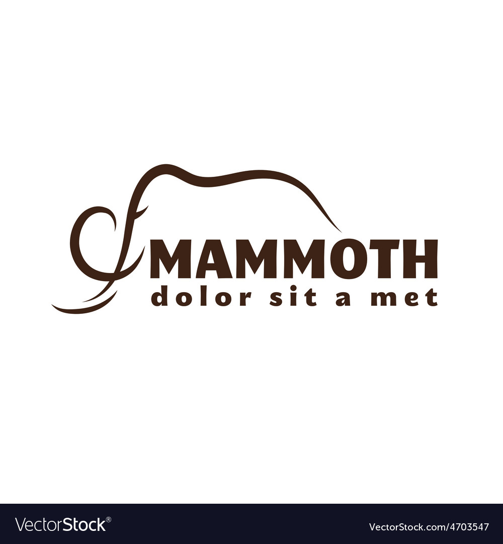 Mammoth outline vector | Price: 1 Credit (USD $1)
