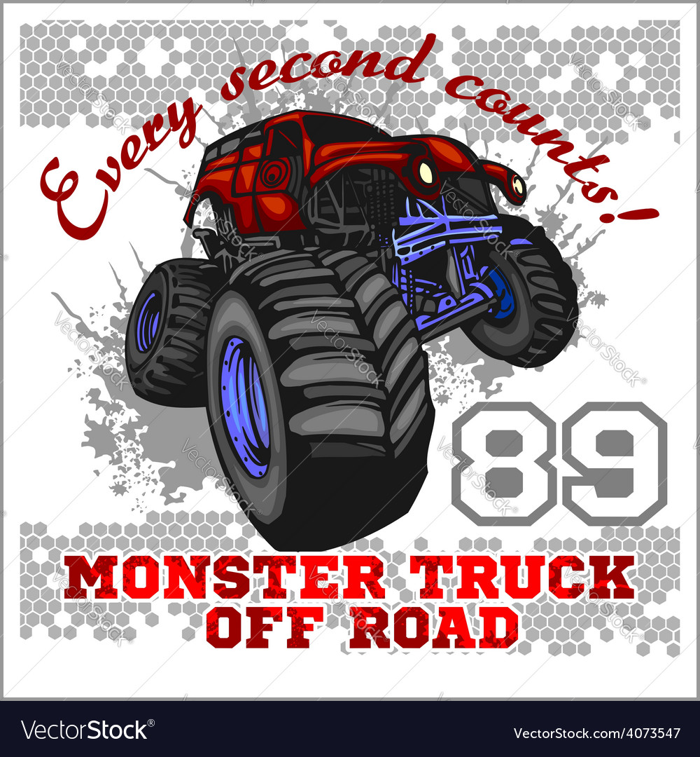 Monster truck - off road badge vector | Price: 3 Credit (USD $3)