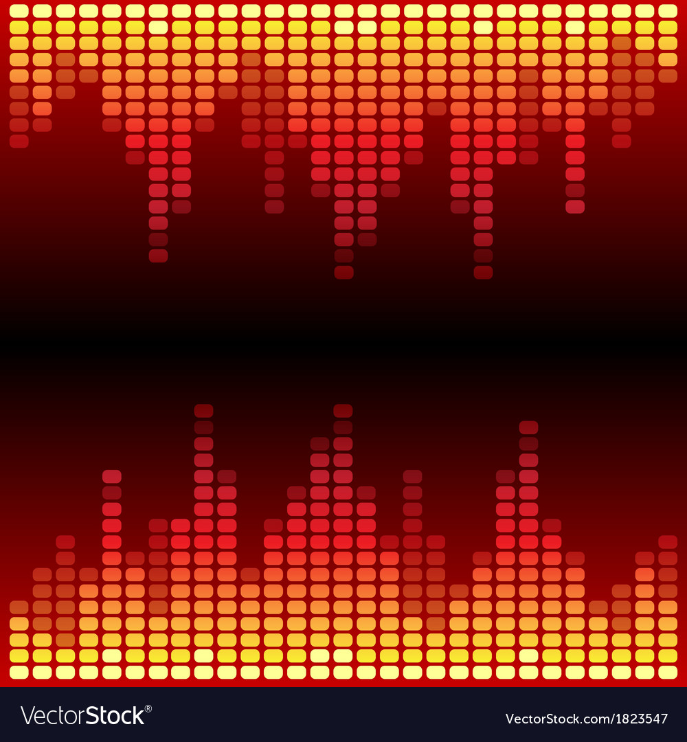 Red and orange digital equalizer background vector | Price: 1 Credit (USD $1)
